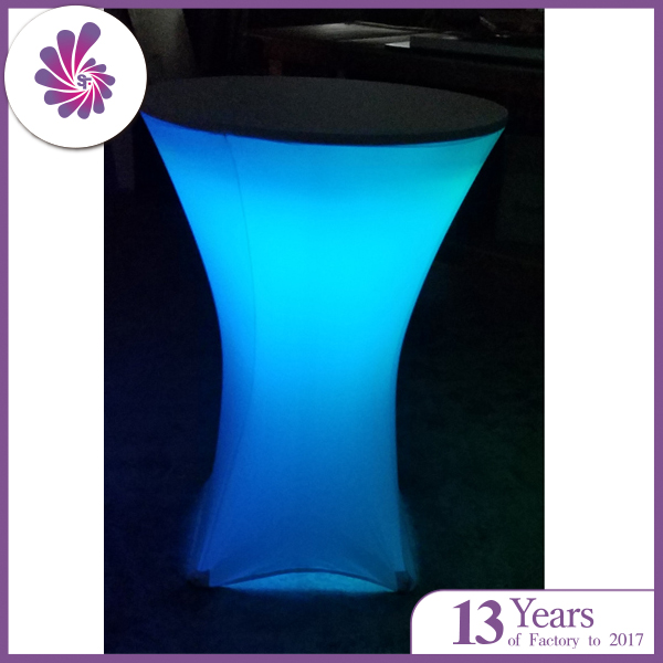 41ce6cd5da8da Spandex Cocktail Table Cover with Led Light Decorative